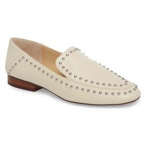 Sole Society Talbia Studded Loafer in Cream